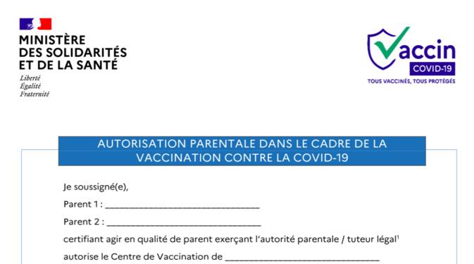 Vaccination des ados : voici l'autorisation parentale à télécharger