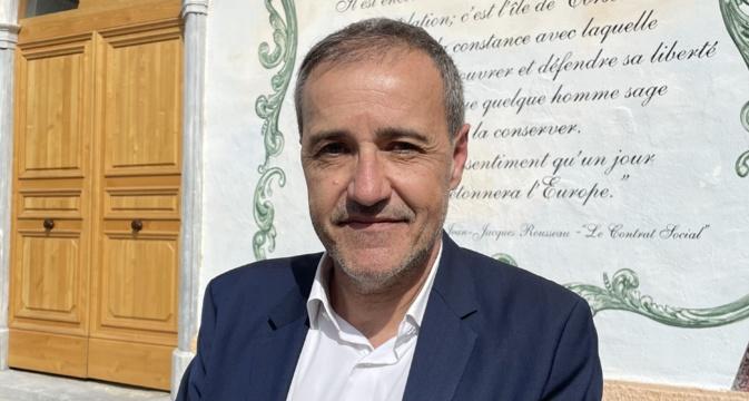 Jean-Guy Talamoni, président de l'Assemblée de Corse et chef de file de la liste Corsica Libera aux élections territoriales des 20 et 27 juin prochain. Photo CNI.
