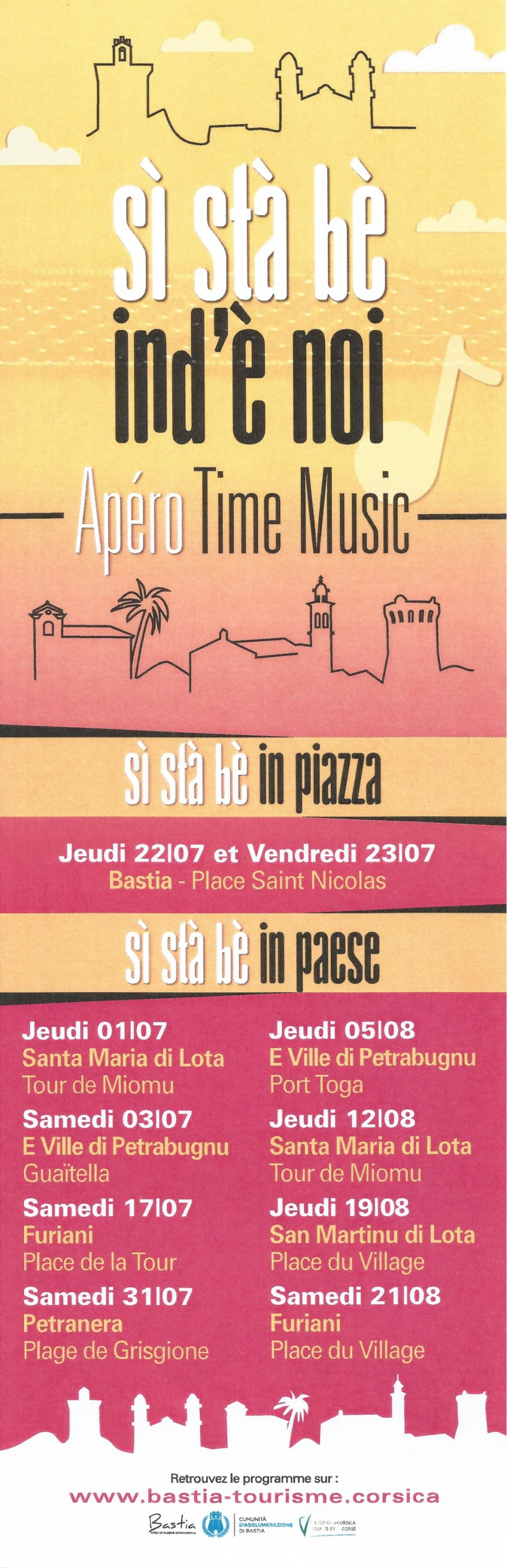Programme des Apéros Time Music