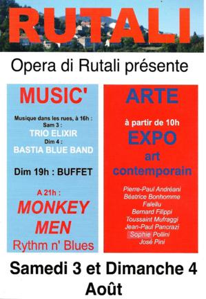 Opera di Rutali : Exposition d'art contemporain les 3 et 4 Août