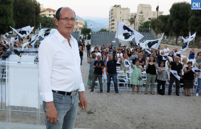 Paul-Felix Benedetti, chef de file de la liste Core In Fronte aux élections territoriales des 20 et 27 juin.