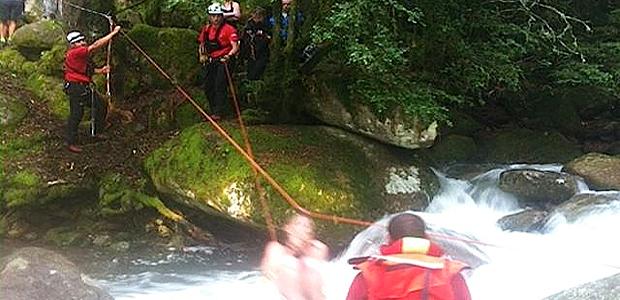 Passerelle submergée en Balagne : 56 personnes évacuées par tyrolienne