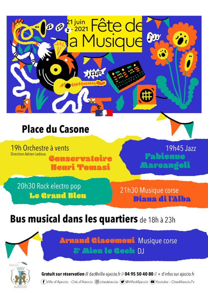 Fête de la musique : un programme ajaccien entre concerts et bus musical