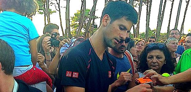 Novak Djokovic au TC Calvi