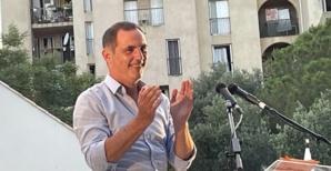 Gilles Simeoni, dernier meeting à Bastia. Photo CNI.