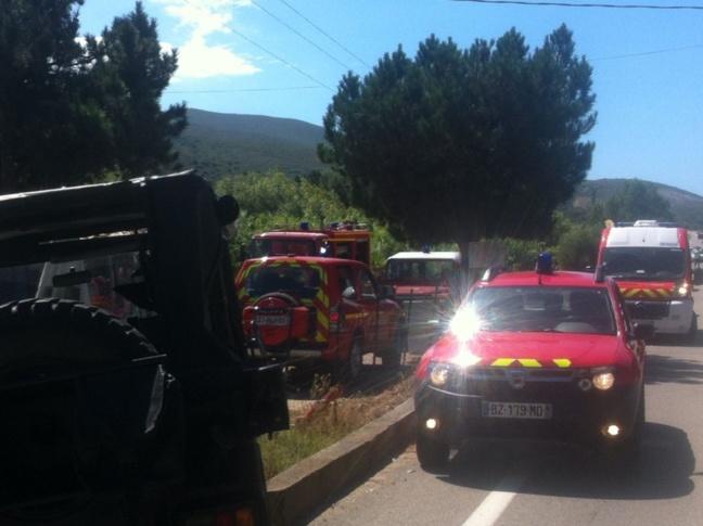 Collision à Ostriconi : 6 blessés dont 2 ont dû être désincarcérés