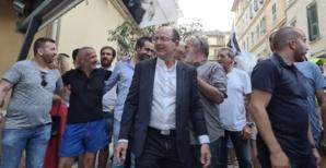 Paul-Félix Benedetti à l'annonce des résultats à Bastia. Photo CNI.