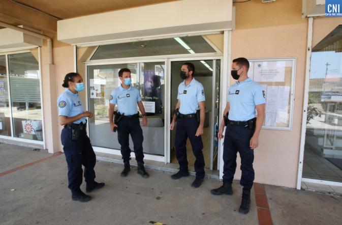 La gendarmerie met en place un point d'accueil à la mairie annexe de Sarrola. Photo : Michel Luccioni