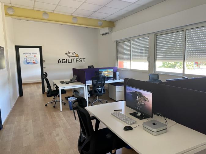 Les bureaux d'Agilitest à Biguglia vont accueillir des pointures de la recherche en Intelligence Artificielle et en psychologie cognitive. (Photo Pierre Huber)