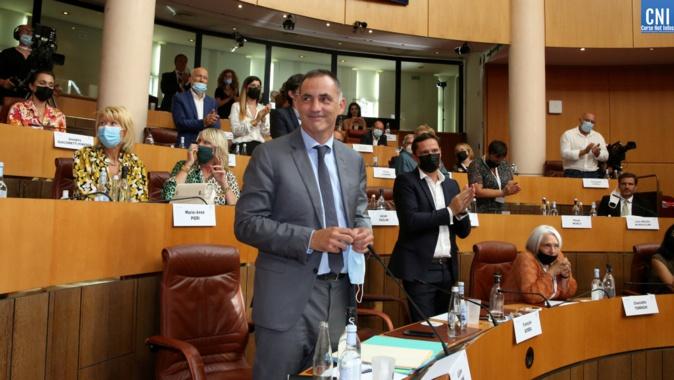 Gilles Simeoni vent d'être élu, pour la trosième fois, président du Conseil exécutif de la Collectivité de Corse. Photo Michel Lucccioni.