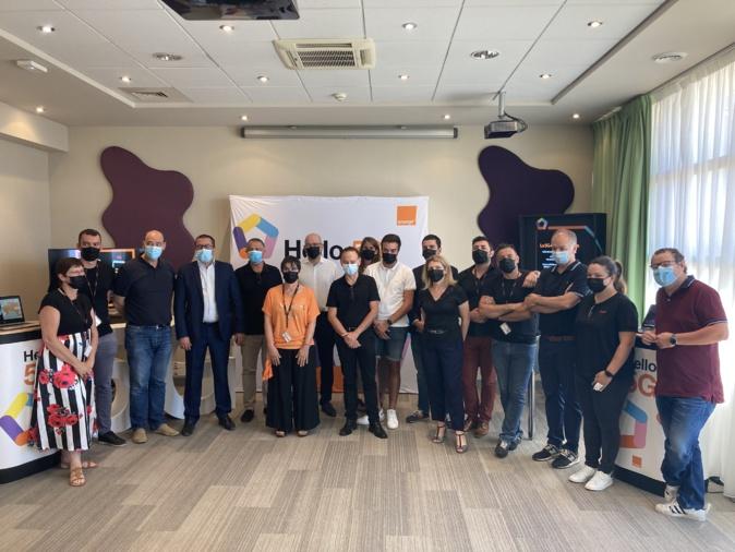 L'équipe d'Orange Corse était réunie au Best Western ce vendredi 2 juillet. Photo : Julia Sereni