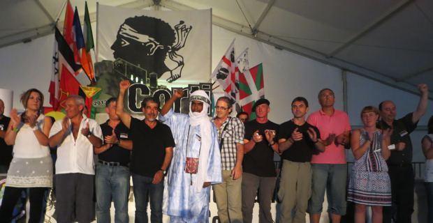 Les différentes délégations internationales aux Ghjurnate di Corti.