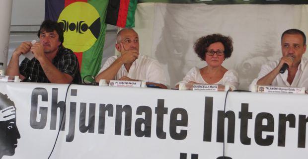 Maria Guidicelli, lors du débat des Ghjurnate di Corti.