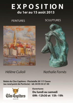 Hélène Culioli et Nathalie Fornes exposent au clos Capitoro