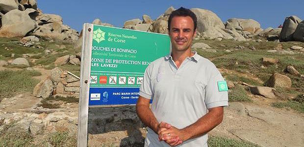 Olivier Bonnenfant, chargé de communication de la Réserve Naturelle des Bouches de Bonifacio.