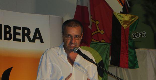Jean-Guy Talamoni, leader de Corsica Libera, lors du meeting de clôture des Ghjurnate di Corti.