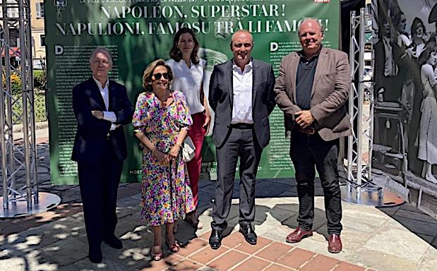 """L'exposition """"Napoléon, Superstar !"""" se tient du 9 juillet au 5 septembre Place Foch à Ajaccio. (Photo Julia Sereni)"""