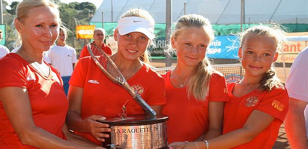 Les joueuses russes ont remporté la Raquette de Corail  (Photo Marilyne anti)