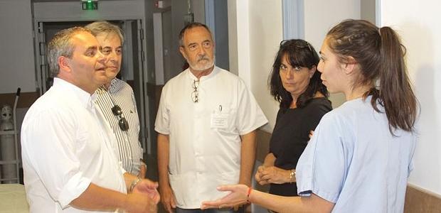 Visite de Xavier Bertrand au Centre Hospitalier de Calvi - Balagne