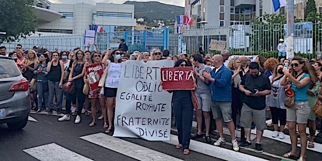La manifestation de Bastia - photo Livia Santana