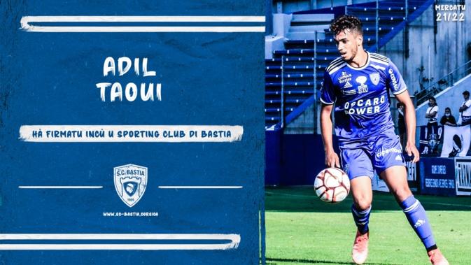 SC Bastia : L'attaquant Adil Taoui signe pour une saison