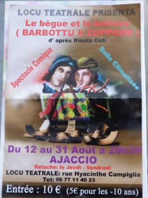 Ajaccio : Locu teatrale présente Barbottu e Zuppone.