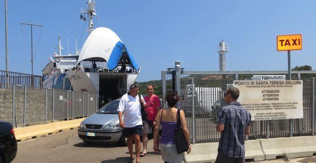 Santa Teresa di Gallura. Terminal d'embarquement vers Bonifacio.