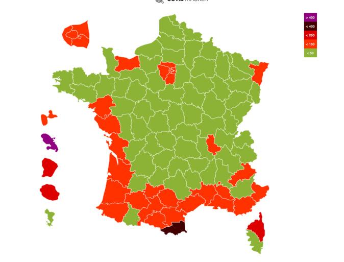 Covid-19 : La Haute-Corse dépasse le seuil d'alerte