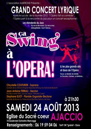 "Avec Chrystelle Couturier et Jean-Antoine Ferrali, ""Ça swing' à l'Opéra"""