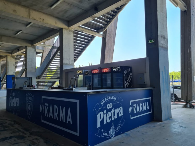 La nouvelle buvette située en tribune sud. Crédits Photo : Pierre-Manuel Pescetti