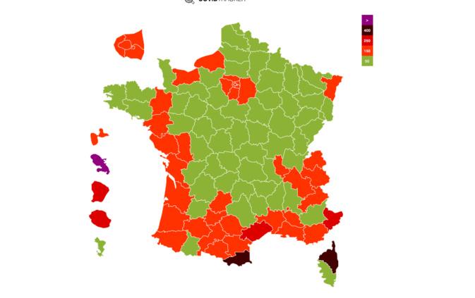 266 c'est le taux d'incidence pour 100k habitants de la Haute-Corse selon CovidTracker. L'incidence moyenne en France est 75