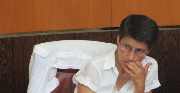 Fabienne Giovannini, élue territoriale de Femu a Corsica, membre de la Commission Tchernobyl et présidente de l'observatoire régional de la santé.