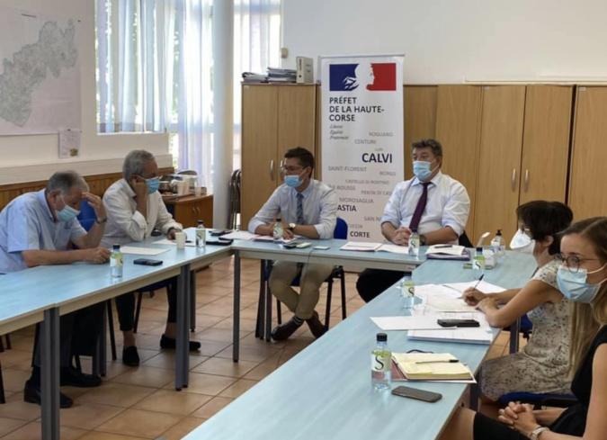 La réunion de ce mercredi - crédit photo préfecture de Haute-Corse
