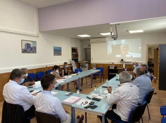 La Réunion de ce mercredi 21 juillet avec les socioprofessionnels balanins - crédit photo préfecture de Corse