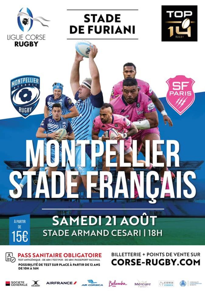 Rugby - Le Top 14 s'invite en Corse : Montpellier-Stade Français le 21 août à Furiani