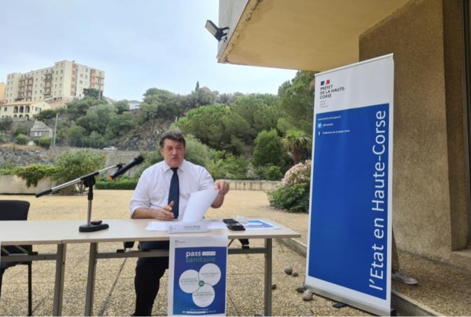 Le préfet de Haute-Corse, Francois Ravier lors de la conférence de presse de ce lundi