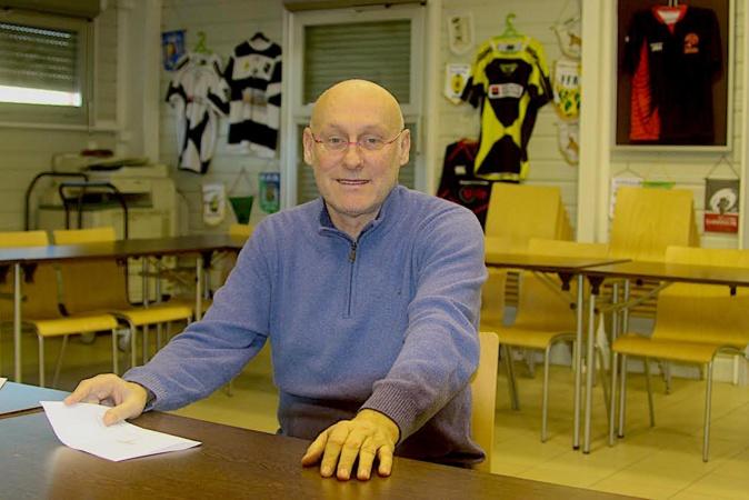 Bernard Laporte au siège de la ligue corse de Rugby en janvier 2021. Photo d'archives CNI.
