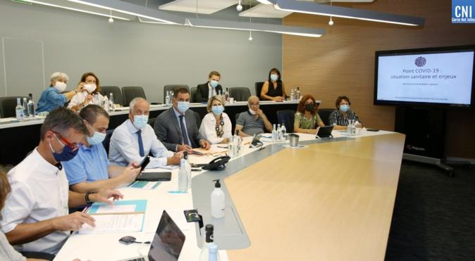 Gilles Simeoni a réuni le Comité de suivi de la situation sanitaire à l'Assemblée de Corse. Photo : Michel Luccioni