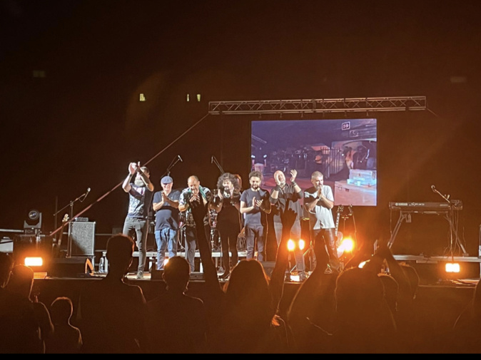 Lors d'un des nombreux concerts du festival