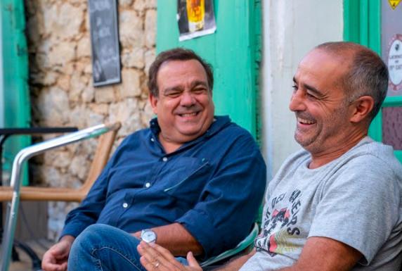 Didier Bourdon et Éric Fraticelli Crédit photo : Angela Rossi © 2020 Marvelous Productions – France 3 Cinéma