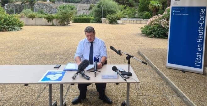 Le préfet de Haute-Corse François Ravier. Crédits Photo : Pierre-Manuel Pescetti