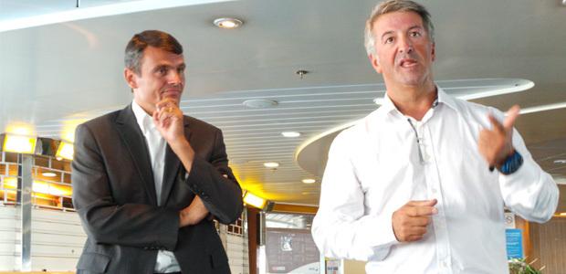 Pierre-André Giovannini (à gauche) et Michel Delaruelle
