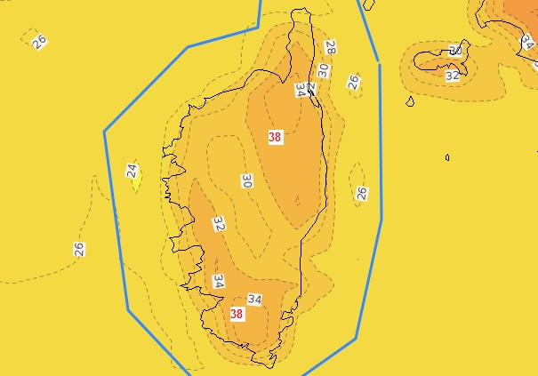 Fortes températures attendues mardi 10 août
