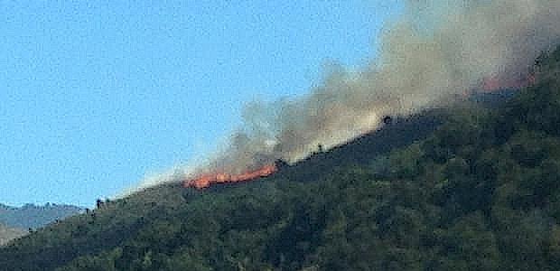 Le feu progresse sur les hauteurs de la vallée du Golo.