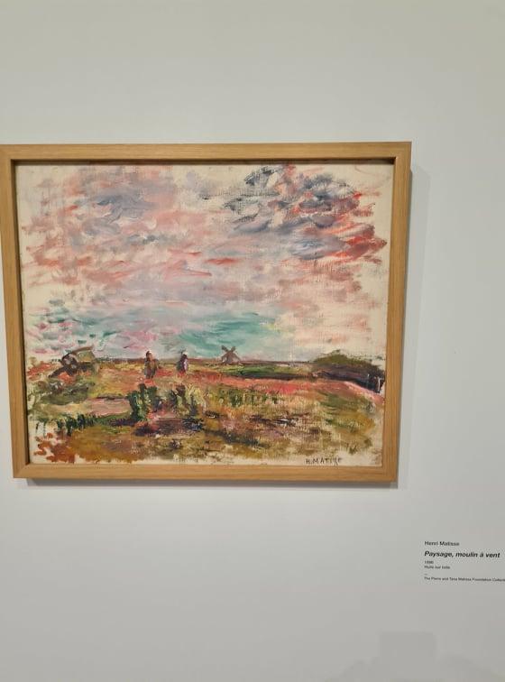 Paysage, moulin à vent. Peint en 1896 par Henri Matisse. Crédits Photo : Pierre-Manuel Pescetti