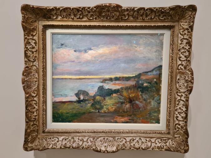 La mer en Corse, Le Scoud. Peint par Henri Matisse à Ajaccio en 1898. Crédits Photo : Pierre-Manuel Pescetti