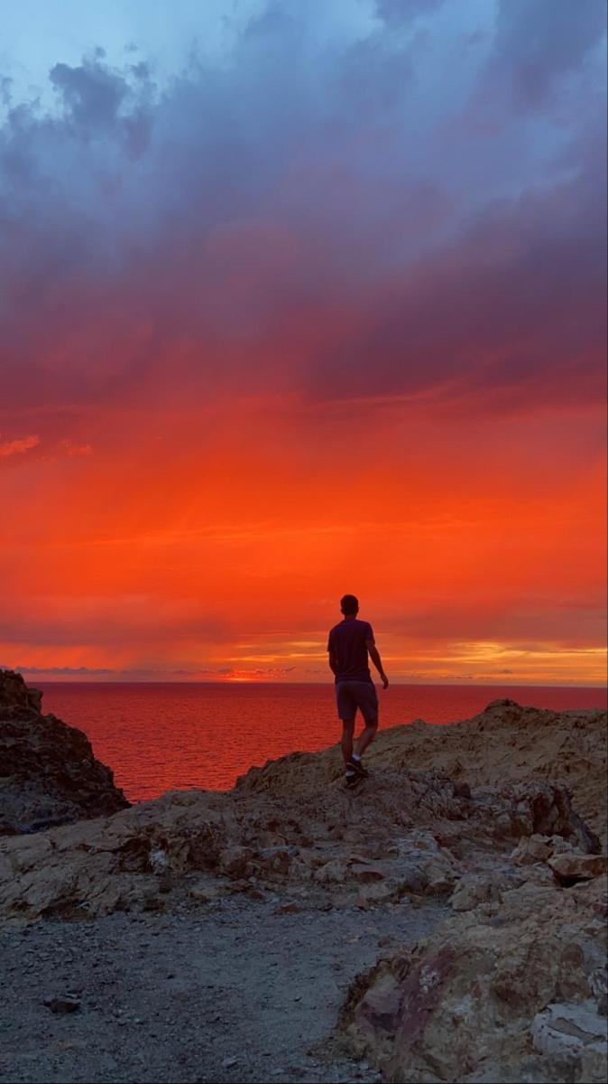 Superbe coucher de soleil sur l'Ile-Rousse (Marianne Rodolfo-