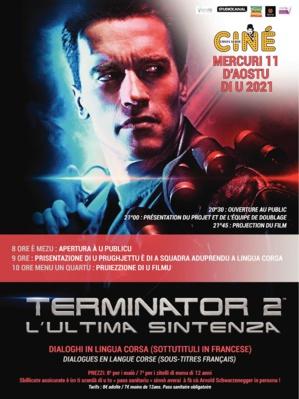 """Le cinéma de Costa Verde  propose """"Terminator 2"""" en langue corse"""