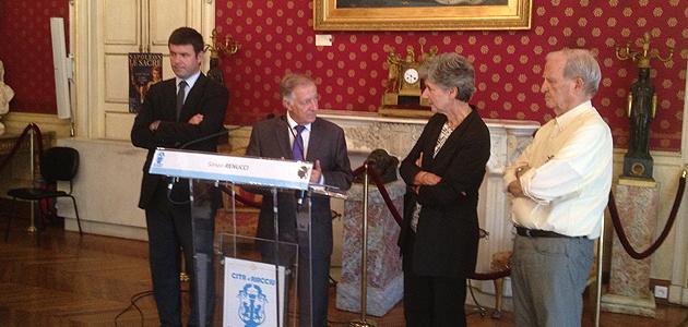Ajaccio : Anne Houtmann reçue dans les Salons Napoléoniens