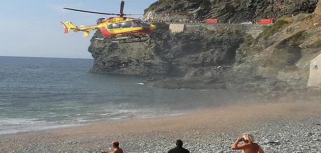 Cap Corse : Accident de la route à la marine de Negru